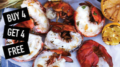 Buy 4 Maine Lobster Tails (7-8 oz), Get 4 FREE