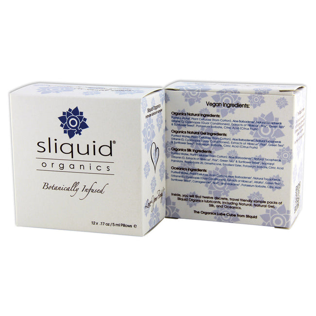 Sliquid Organics Lubricant Sample 12pk.