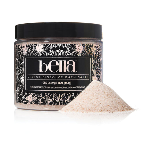 Bella CBD Stress Dissolve Bath Salts 16oz - MedAmour