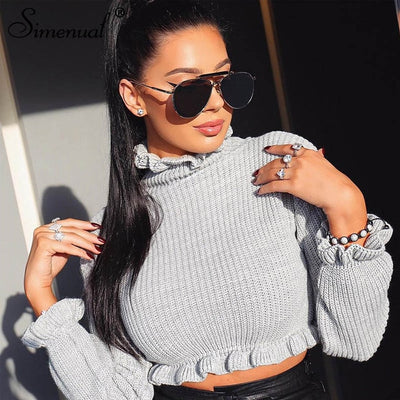Simenual cropped sweater
