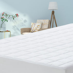 CottonColors Cooling Mattress Pad Cover Hypoallergenic Bed Topper