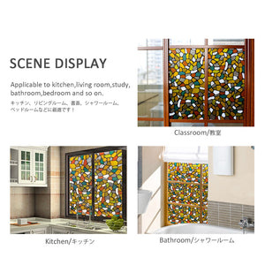 Decorate Window Stickers Static Cling BLKM027(90*200CM)