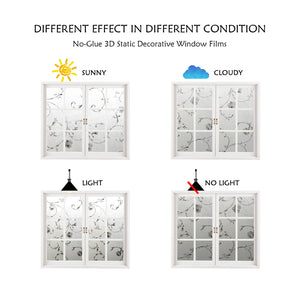 CottonColors Decorate Privacy Window Frosting Film Anti UV Static Cling 90*200CM - Cottoncolors Home Decoration window film privacy film window sticker