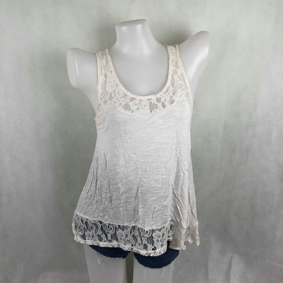 e1220cfed74ee8 Pink Rose White Tanktop with lace – Modny Shoppe