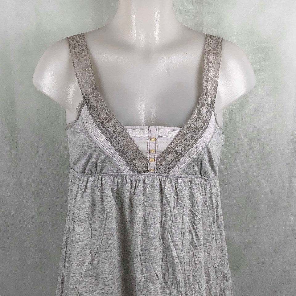 f46a313c1c5368 Hollister Gray Maternity Tanktop with lace – Modny Shoppe