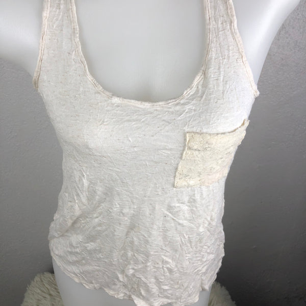 0c655f62313229 Pink Rose Dirty White Tank Top with Lace – Modny Shoppe