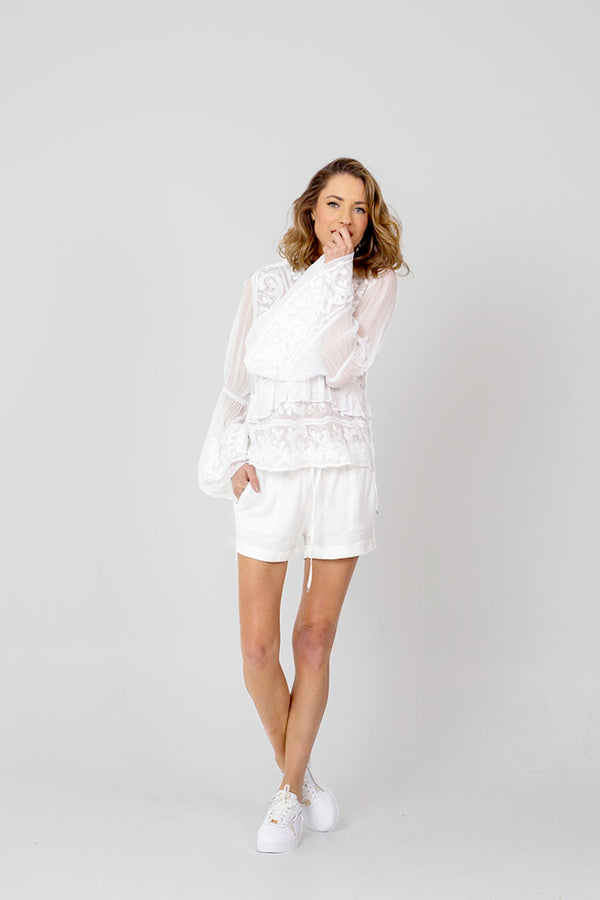 NEW ROMANTIC Blouse - WHITE