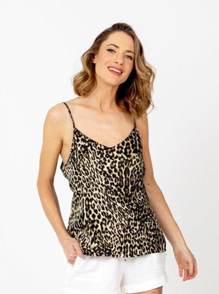 The NYC Cami - Leopard Silk