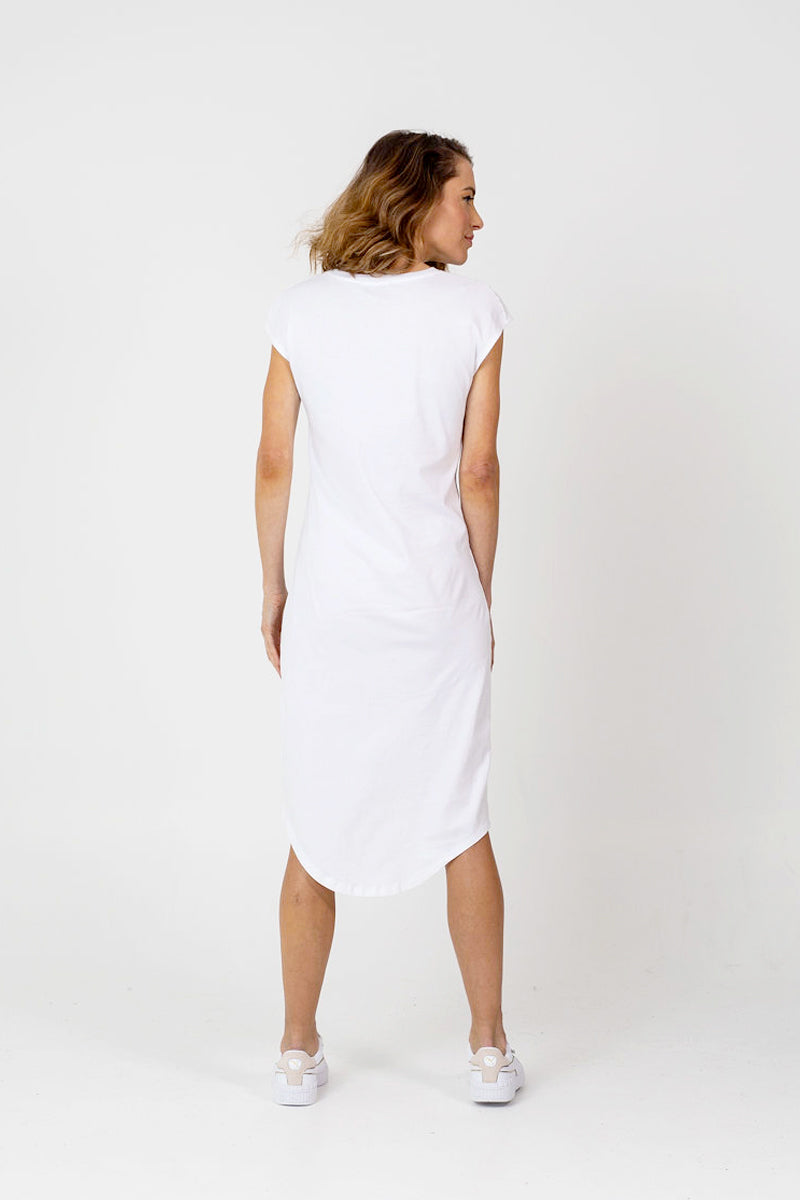 CATALINA Dress - BLACK, 100% ORGANIC COTTON.