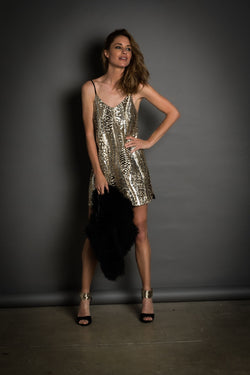 ST TROPEZ Sequin Dress