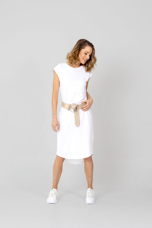 CATALINA Dress - WHITE, 100% ORGANIC COTTON.