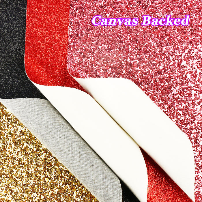 15PCS Glitter Faux Leather Sheets + 5PCS Sequins Leather Fabric Sheets for Earrings, Bows, Crafts DIY