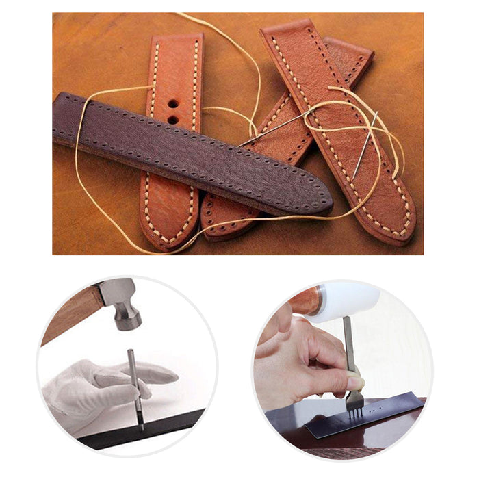 Leather Craft Tools-SIMPZIA Leather Hand Stitching Tools Kit