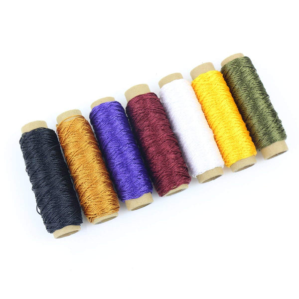 24 Colors Thread for Hand Sewing Leather and Bookbinding.