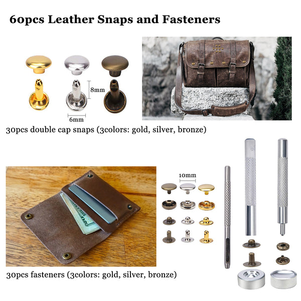 Leather Working Tools, 131PCS Leathercraft Tools with 20PCS Leather Stamping Tools, Cutting Mat etc.