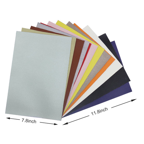 Litchi Faux Leather Sheets, PU Synthetic Leather Cotton Backed, 1.2mm for Earring, DIY Craft Project