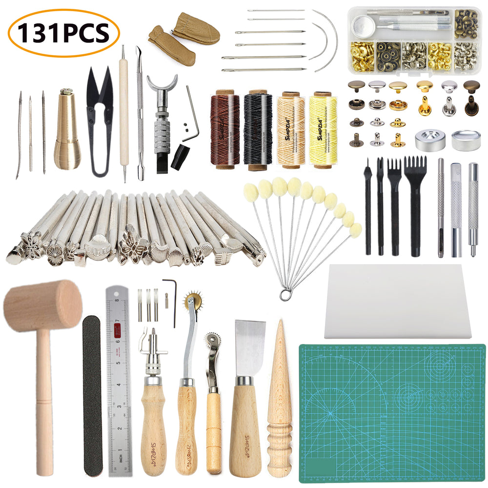 131PCS Leathercraft Tools