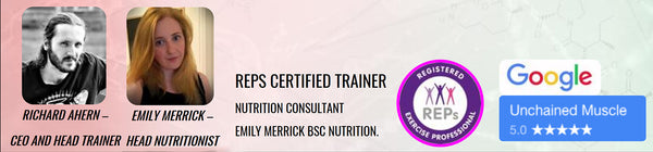 REPS Certified Trainer. Nutrition Consultant Emily Merrick BSc Nutrition.