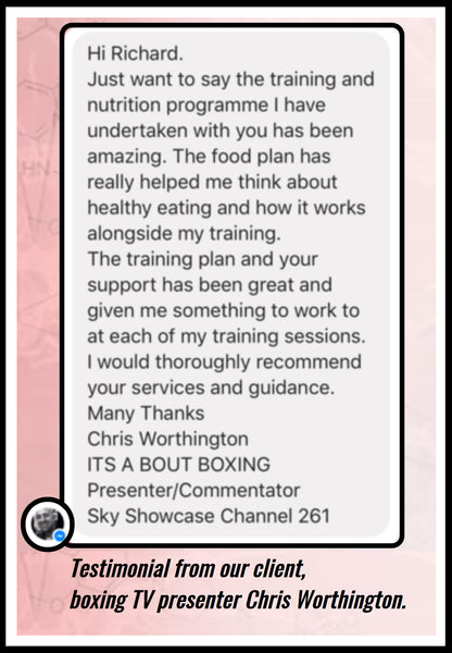 Testimonial from our client, boxing TV presenter Chris Worthington.