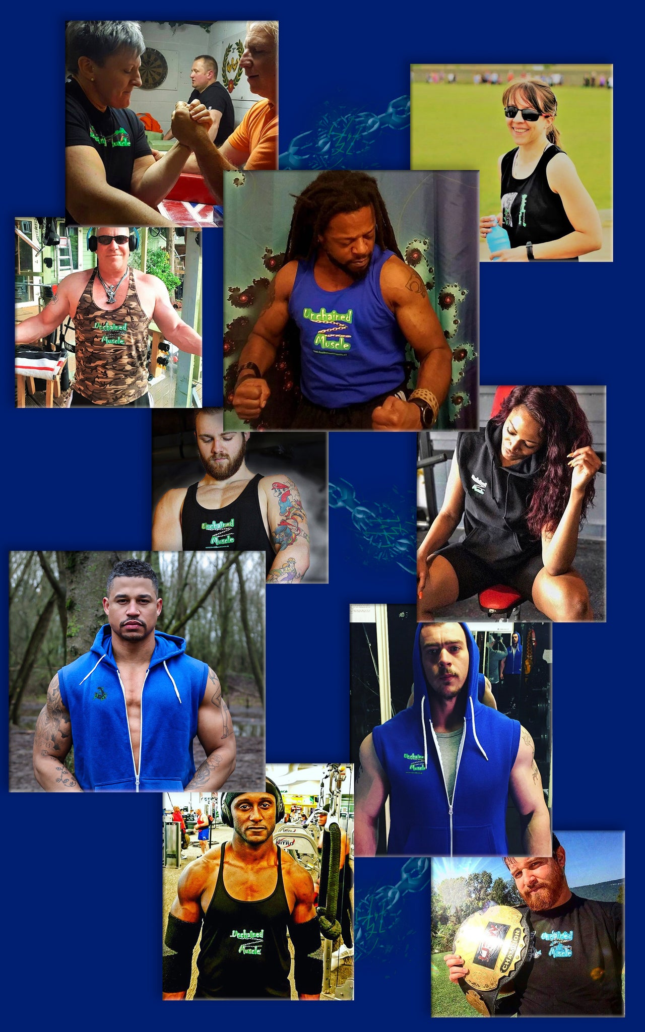 Unchained Muscle Sponsored Athletes and Ambassadors