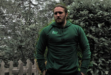 Unchained Muscle Bottle Green Hoodie - Unchained Muscle