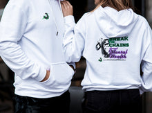 Break The Chains Arctic White Unisex Hoodie - Charity Item - Unchained Muscle