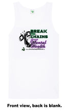 Break The Chains Unisex Arctic White Vest - Charity Item - Unchained Muscle