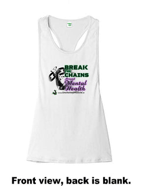 Break The Chains Women's Arctic White Stringer - Charity Item - Unchained Muscle