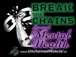 Break The Chains Black Unisex T-Shirt - Charity Item - Unchained Muscle