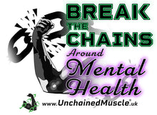 Break The Chains Unisex Arctic White T-Shirt - Charity Item - Unchained Muscle