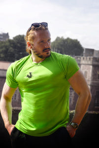 Unchained Muscle Unisex Electric Green Performance T-Shirt - Unchained Muscle