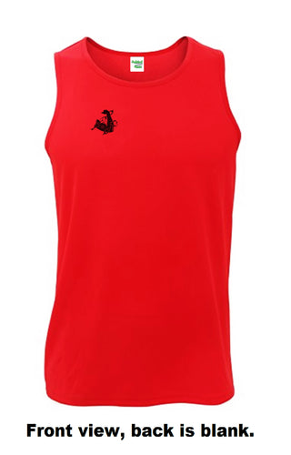Unchained Muscle Unisex Inferno Red Performance Vest - Unchained Muscle