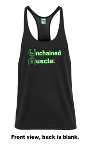 Unchained Muscle Men's Black Stringer - Unchained Muscle