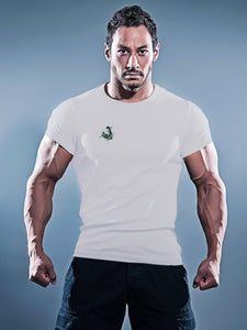 Unchained Muscle Men's White Logo Special Muscle Fit T-Shirt - Unchained Muscle
