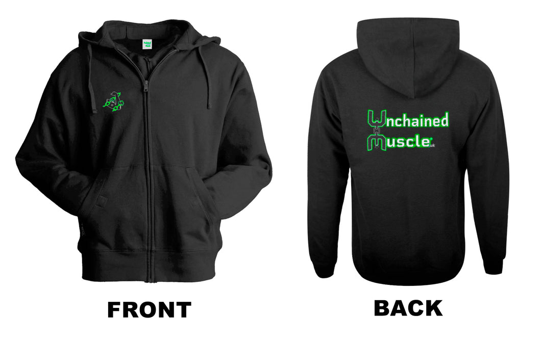 Unchained Muscle Men's Zip Up Hoodie - Unchained Muscle
