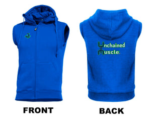 Unchained Muscle Men's Royal Blue Sleeveless Hoodie - Unchained Muscle