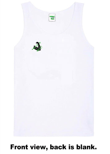 Unchained Muscle Unisex White Vest - Unchained Muscle