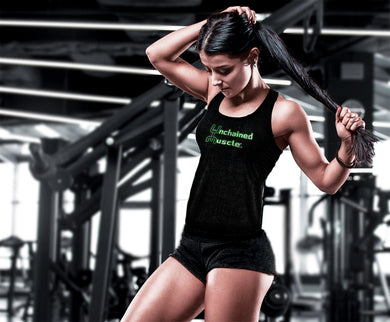 Unchained Muscle Women's Black Stringer - Unchained Muscle