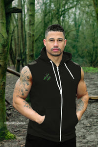 Unchained Muscle Men's Black Sleeveless Hoodie - Unchained Muscle