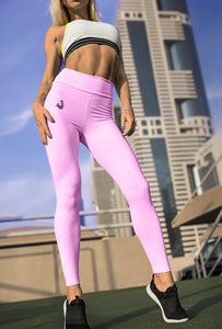 Unchained Muscle Marshmallow Pink Women's Premium Performance Leggings - Unchained Muscle
