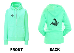 Unchained Muscle Women's Peppermint Green Zip Up Hoodie - Unchained Muscle