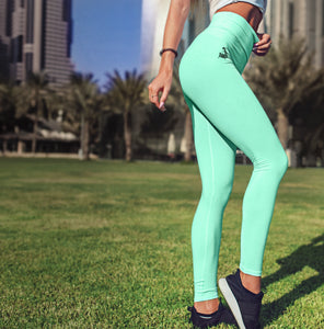 Unchained Muscle Peppermint Green Women's Premium Leggings - Unchained Muscle