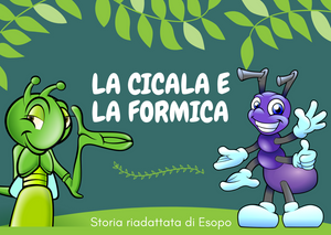 LISTENING and READING exercise for Beginners - The Ant and the Grasshopper, an Aesop's Fable