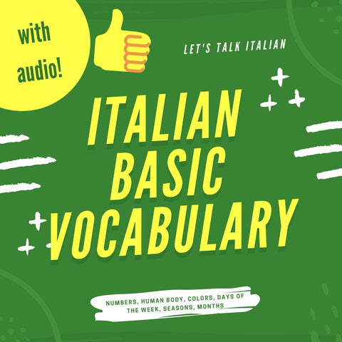 Italian Basic Vocabulary With Audio - ItalianSi