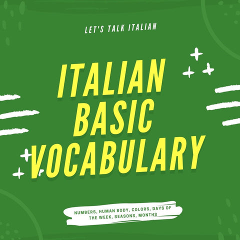 Italian Basic Vocabulary - ItalianSi