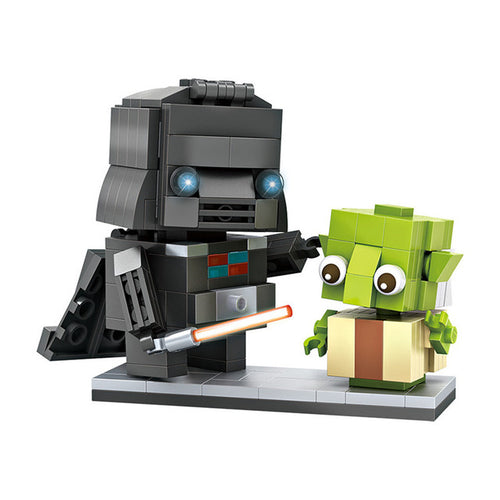 LOZ Mini Brick Headz Set - Darth Vader and Yoda