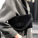 International Noir Desire, Danish Design bags ND folded bag suede #3 - Crossbody & shoulder bag