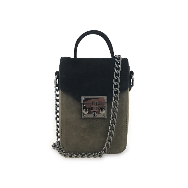Noir Desire, Danish Design Bag ND Antony Black/Olive #4 - Crossbody bag