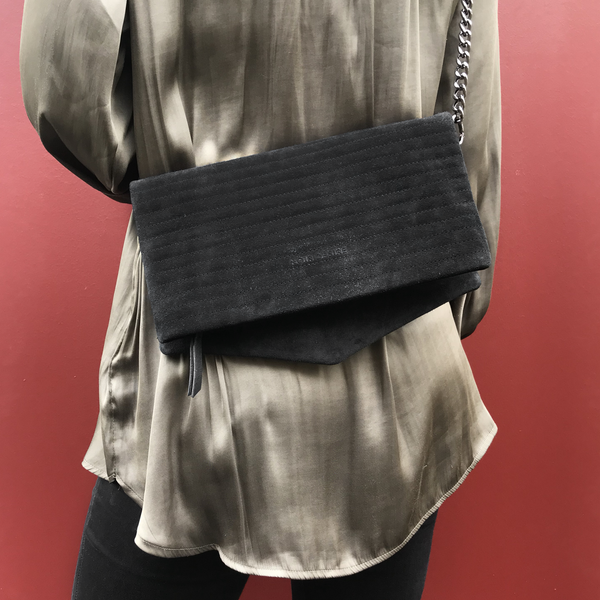 Noir Desire, Danish Design Bags ND folded bag pinstripe #1 clutch, crossbody, shoulderbag