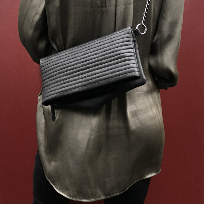 Noir Desire, Danish Design Bags ND folded bag pinstripe #5 clutch, crossbody, shoulderbag